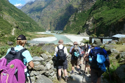 OSOC Trekkers on the Annapurna Trail